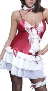 Fantasy Holiday French Maid Costume